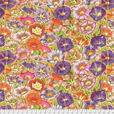 Variegated Morning Glory on Orange  - Kaffe Fassett Collective by FreeSpirit Fabrics