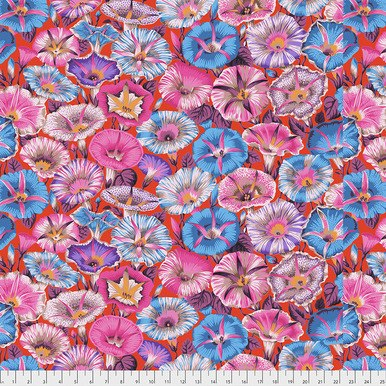 Variegated Morning Glory on Red - Kaffe Fassett Collective by FreeSpirit Fabrics