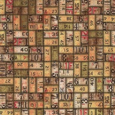 FreeSpirit Fabrics | Measurement - Neutral | Foundations | Tim Holtz Eclectic El...