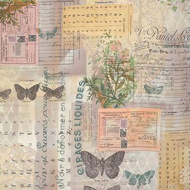 FreeSpirit Fabrics | Botanical - Multi | Foundations | Tim Holtz Eclectic Elemen...