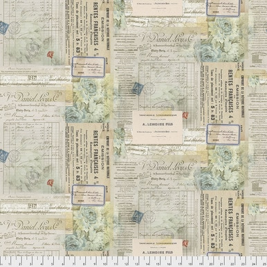 FreeSpirit Fabrics | Paris - Multi |Memoranda 2 |Tim Holtz Eclectic Elements