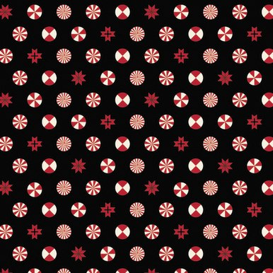 Holiday Homies Flannel Peppermint Stars - Ink