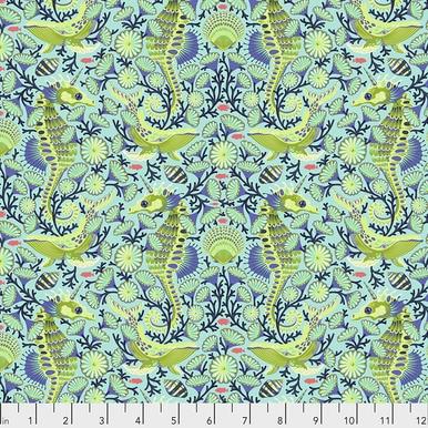 FreeSpirit Fabrics | Sea Stallion - Aquamarine | Zuma | Tula Pink