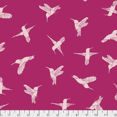 FreeSpirit Fabrics | Humming Birds - Hot Pink |Murmur |Valori Wells