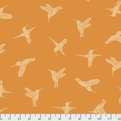 FreeSpirit Fabrics | Humming Birds - Orange |Murmur |Valori Wells