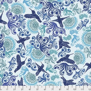 FreeSpirit Fabrics | Garden - Indigo |Murmur |Valori Wells