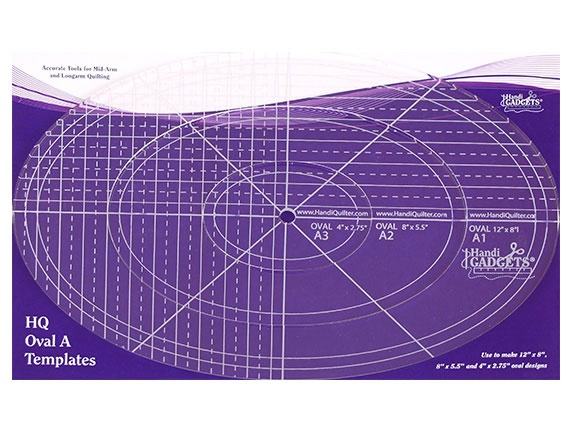 Ruler-Oval A 12 Inch 8 Inch 4 Inch