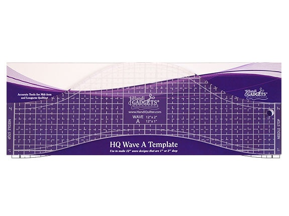 Template Handi Quilter Wave A 12