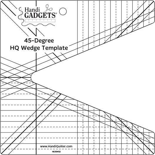 Handi Quilter Template 45-degree Wedge