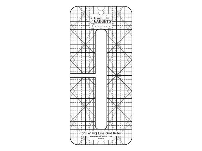 HQ - Ruler - 6 Inch x 0.25 Inch Line Grid