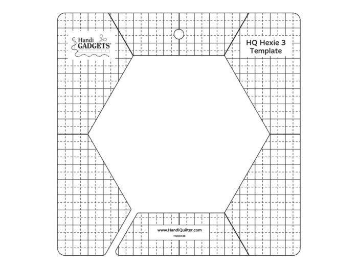 HQ - Ruler - 3 inch Hex Template