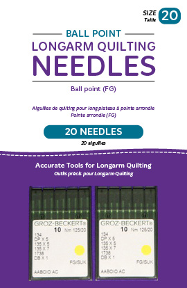 HQ- Ball Point Longarm Needles - Two Packages of 10 (20/125-FB Ball Point)