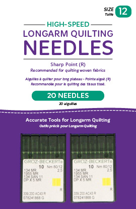 High-Speed Longarm Needles - Two Packages of 10 (Crank 10/12 134MR-2.5)