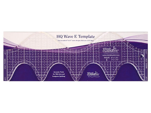 Handi Quilter Ruler Wave E 6 & 3 Inch - HG00612