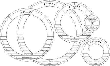 Handi Quilter Ring Ruler Set - Gold