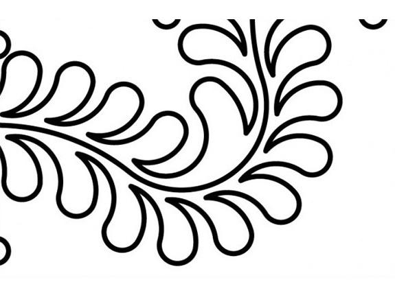 Feather Corner 6 Inch