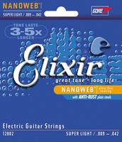Elixir Nanoweb Coated Elec w/ Anti-Rust, Super Lt.