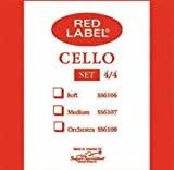 Super Sensitive Medium Tone Cello String Set, 4/4