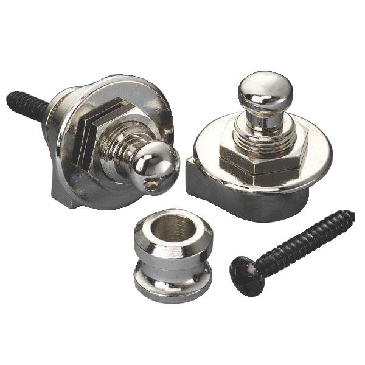 Security Locks With Nickel Finish (Pair)