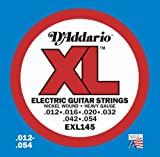 D'Addario EXL145 Nickel Wound Electric Guitar Strings, Heavy, 12-54