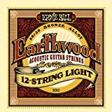 Earthwood 12-String Light Acoustic Stringset Ernie Ball 2010EB