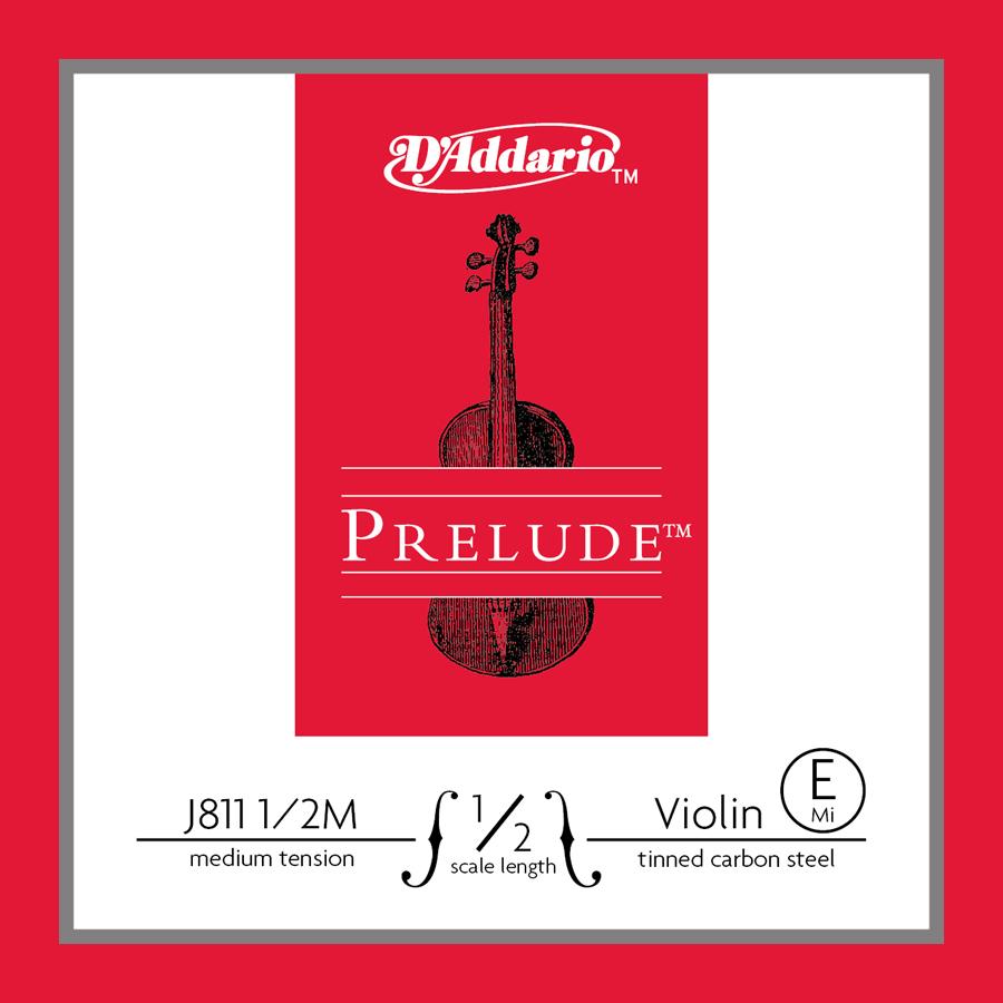 D'Addario Prelude Violin String - E 1/2 D'Addario med