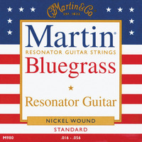 Martin Nickel Wound Resonator Strings Light