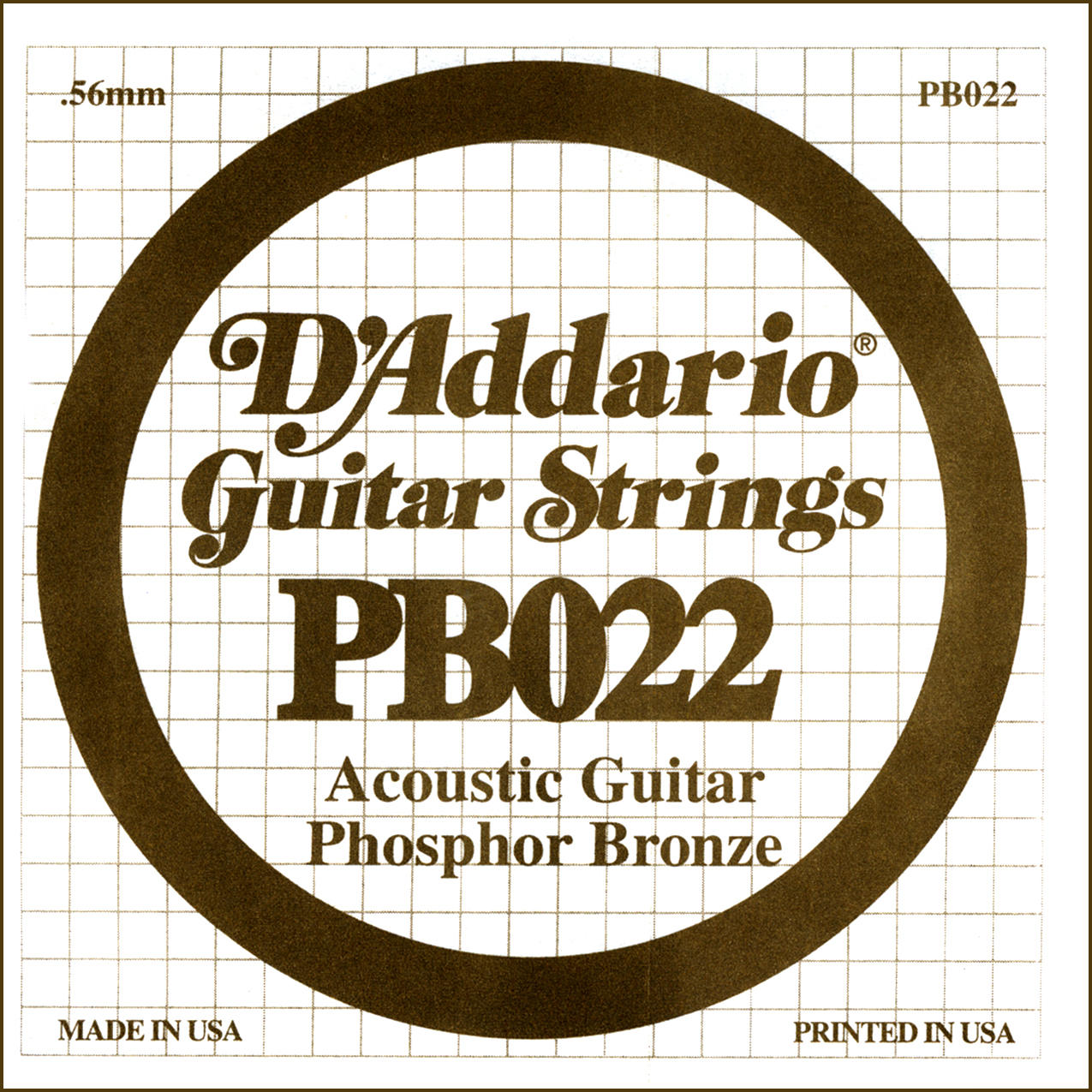 D'Addario Single Strings PBO22