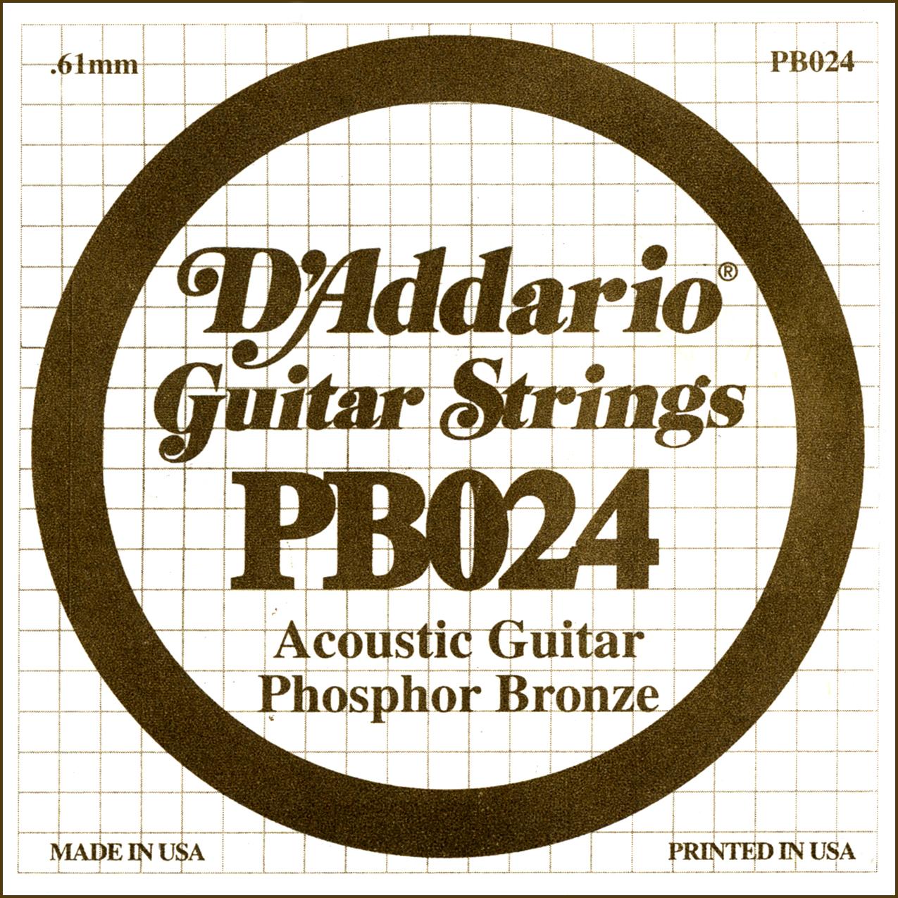 D'Addario Single Strings PBO24