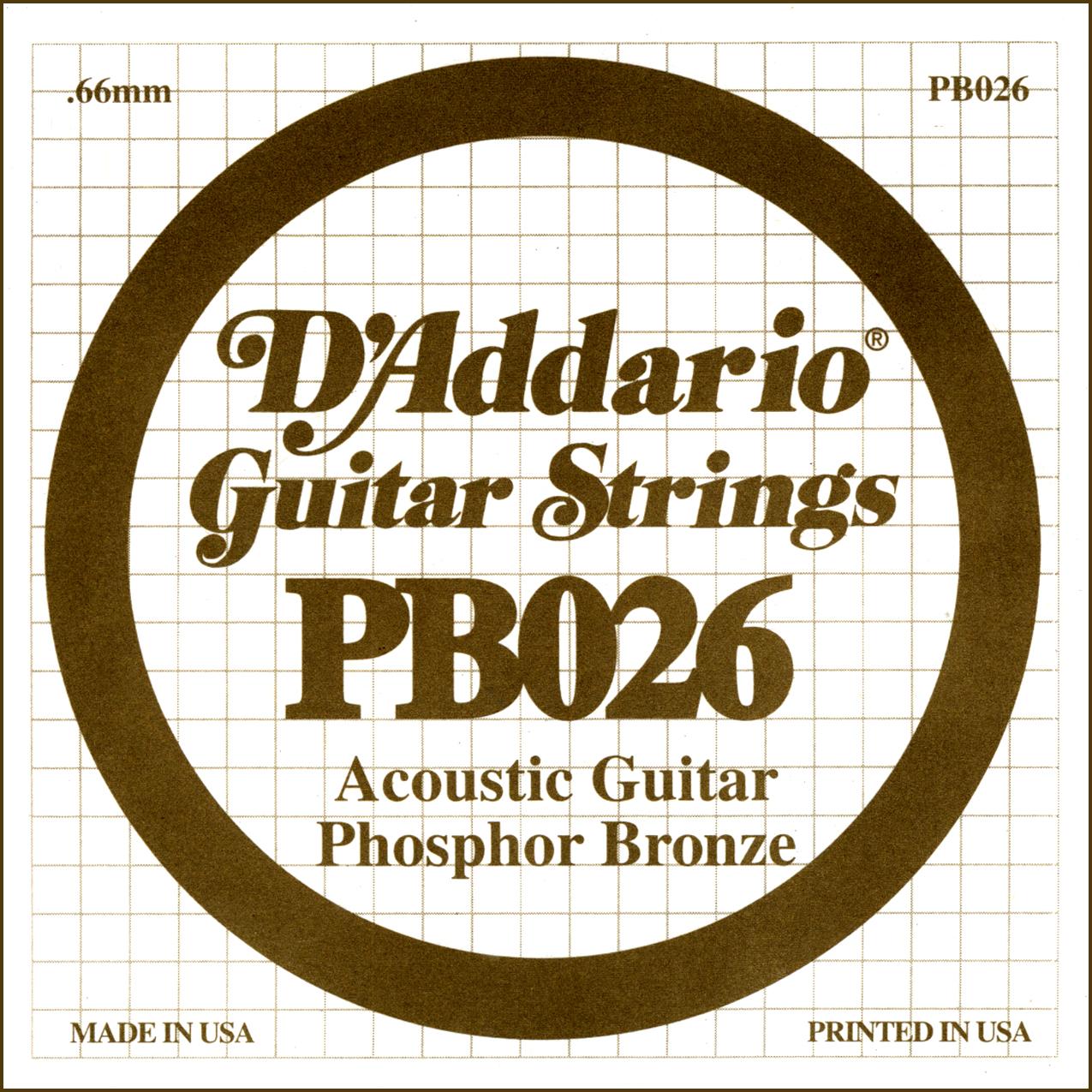D'Addario Single Strings PBO26