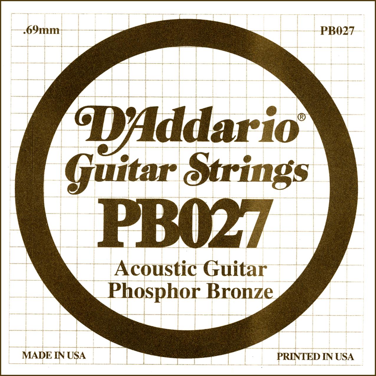 D'Addario Single Strings PBO27
