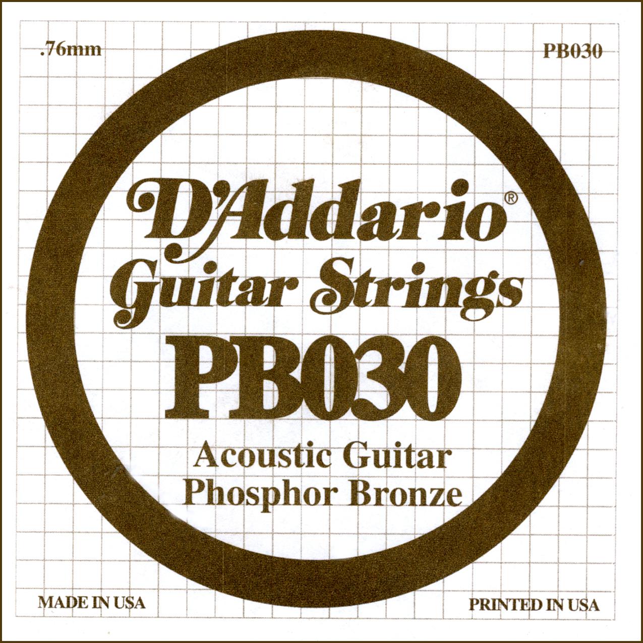 D'Addario Single Strings PBO30