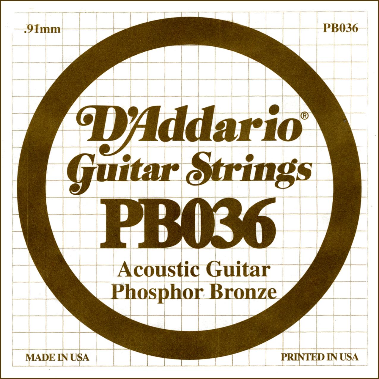 D'Addario Single Strings PBO36