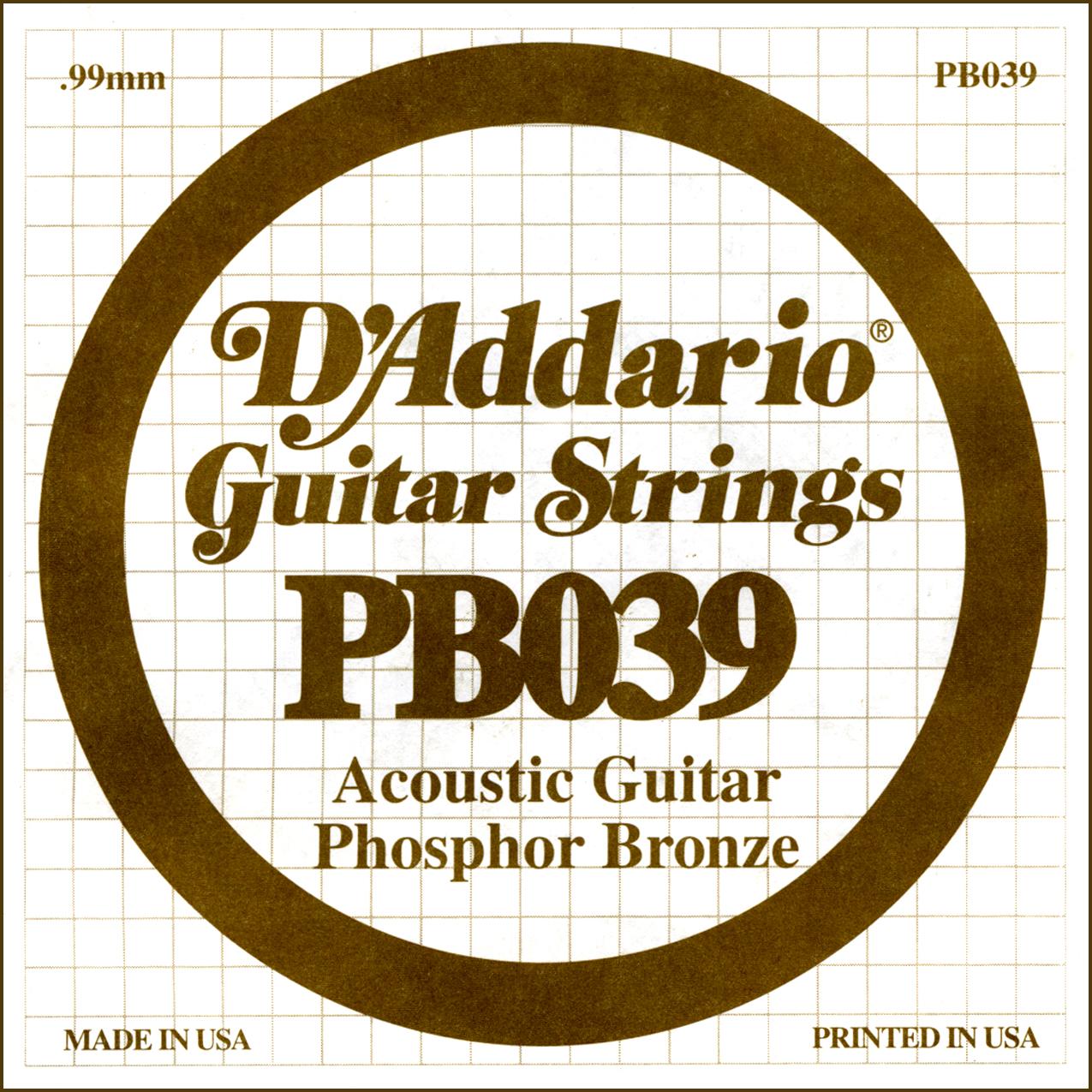 D'Addario Single Strings PBO42