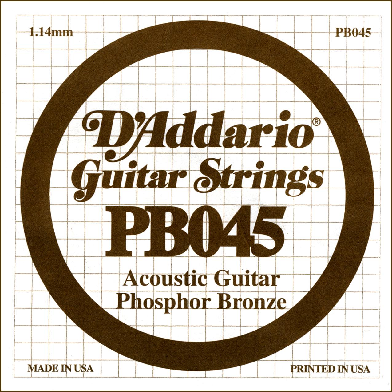 D'Addario Single Strings PBO45