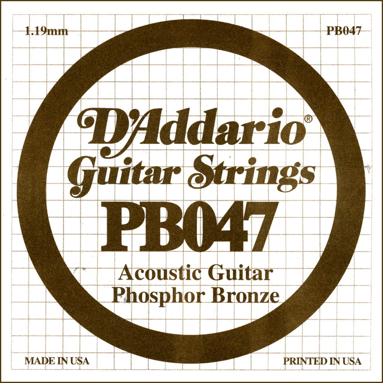 D'Addario Single Strings PBO47