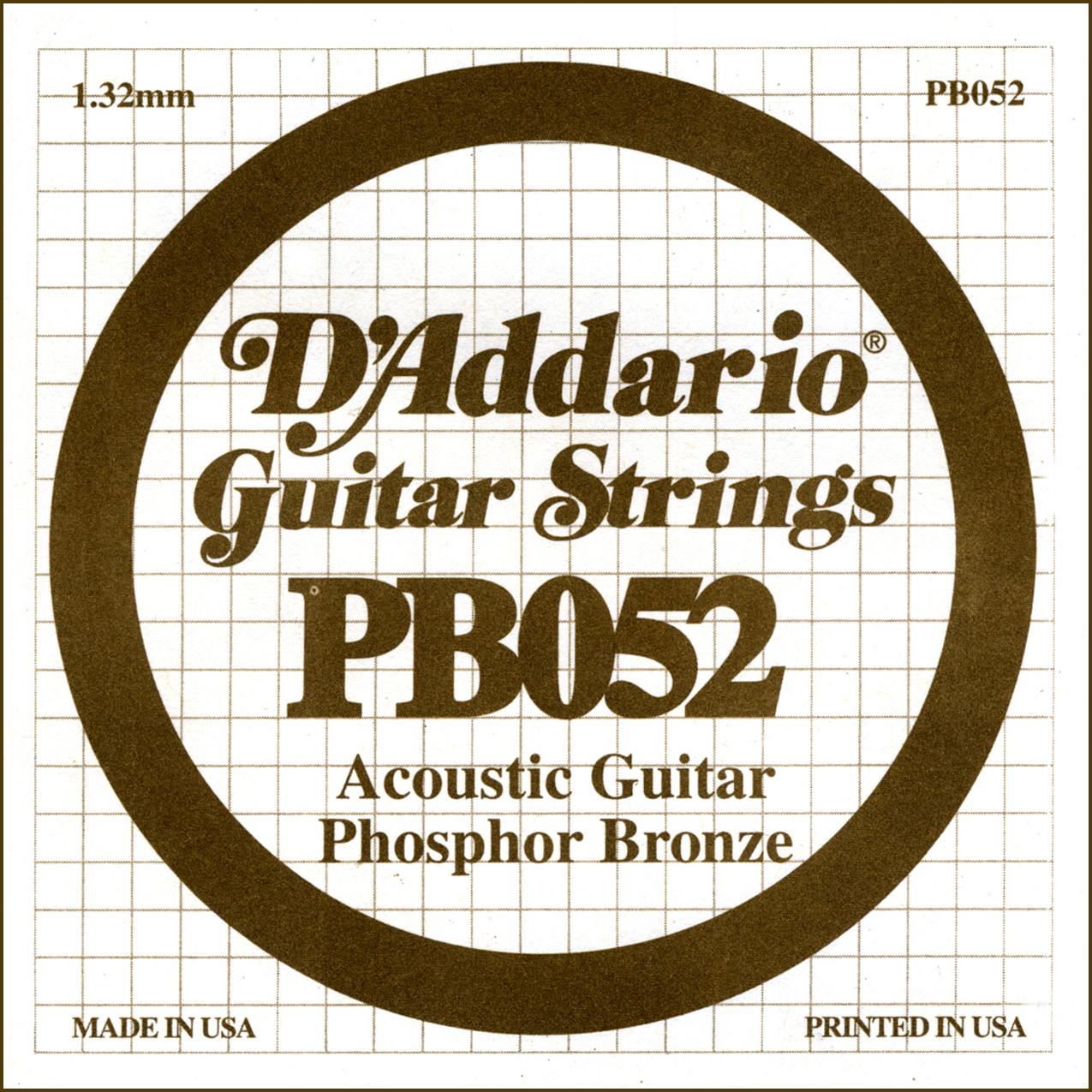 D'Addario Single Strings PBO52