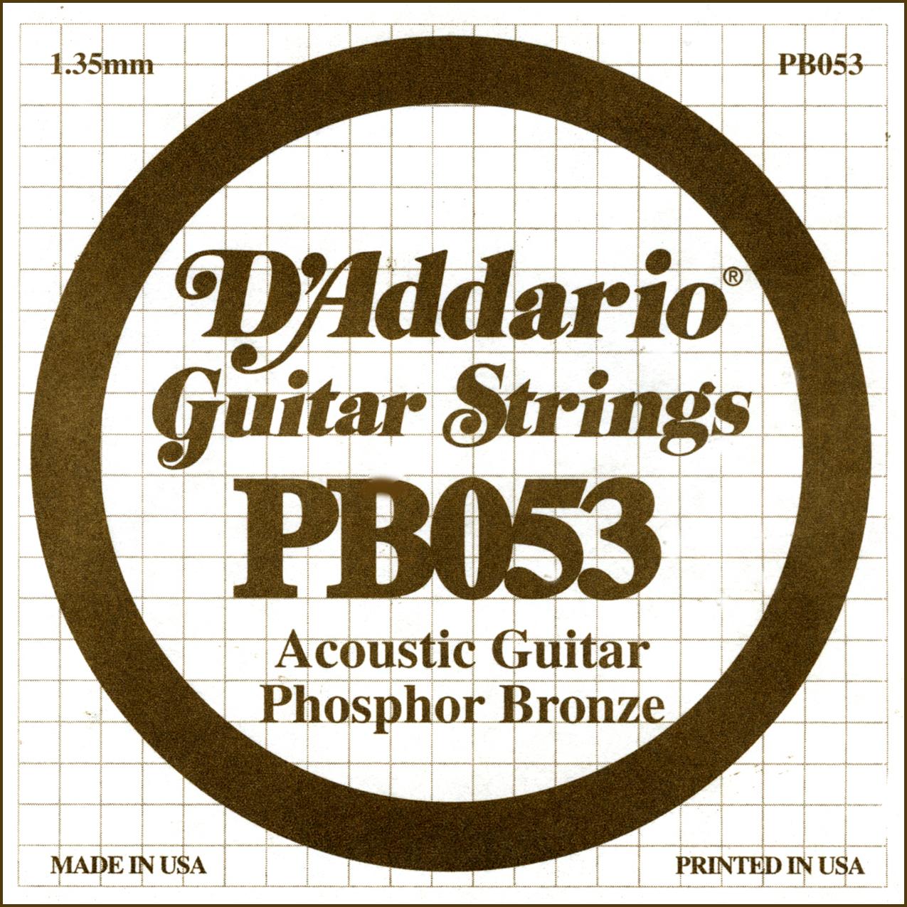 D'Addario Single Strings PBO53