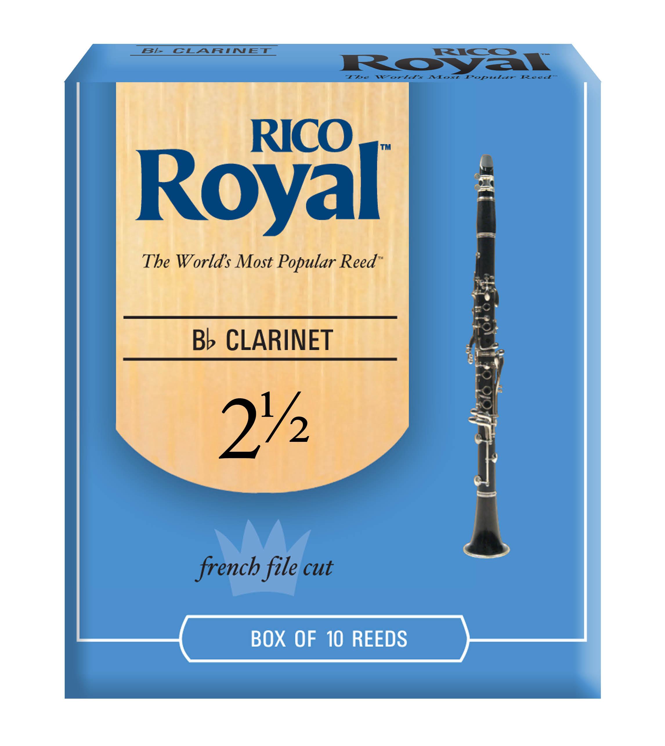 RICO ROYAL 2.5 CLARINET REED 10