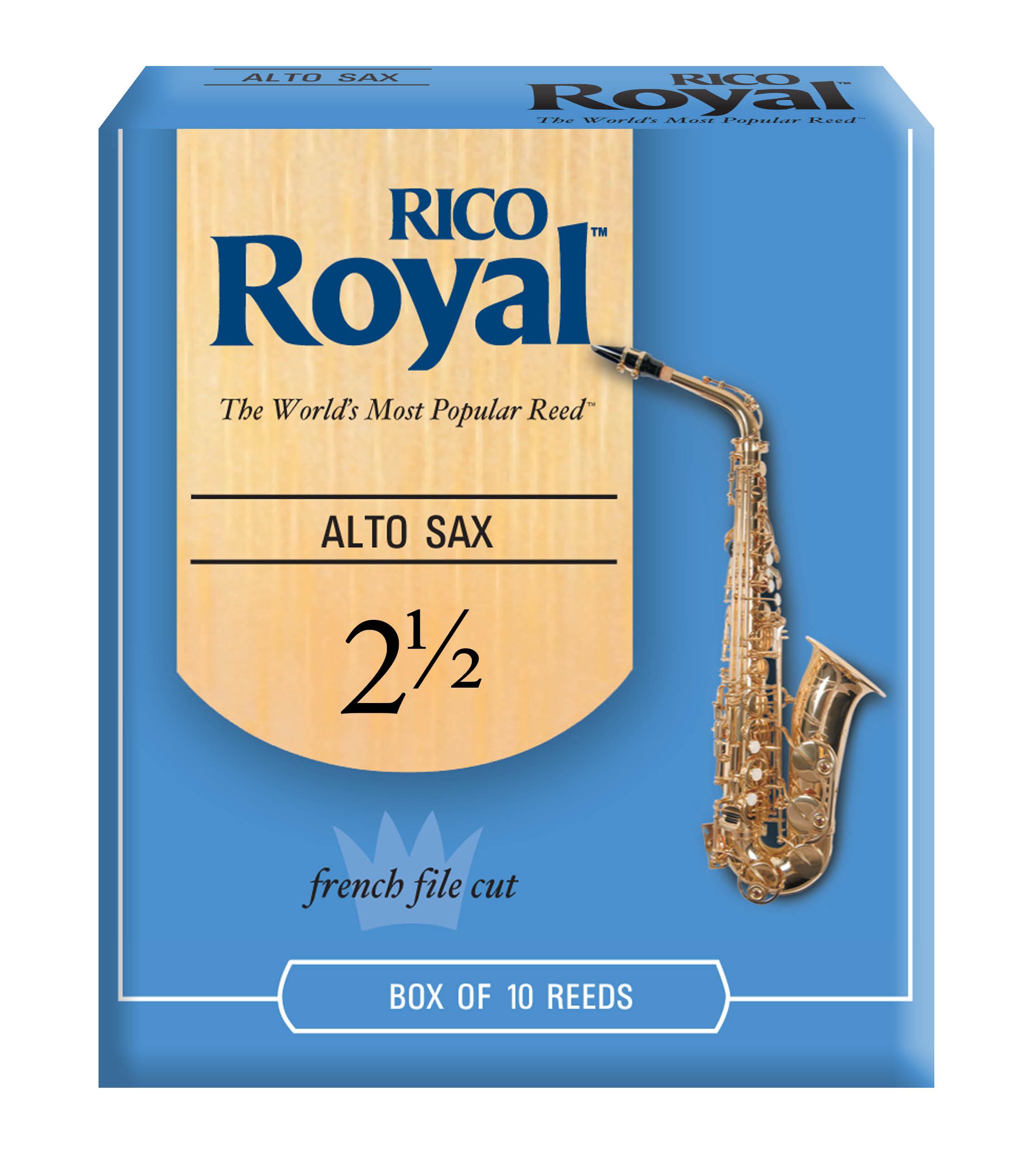 RICO ROYAL 2.5 ALTO SAX REED 10