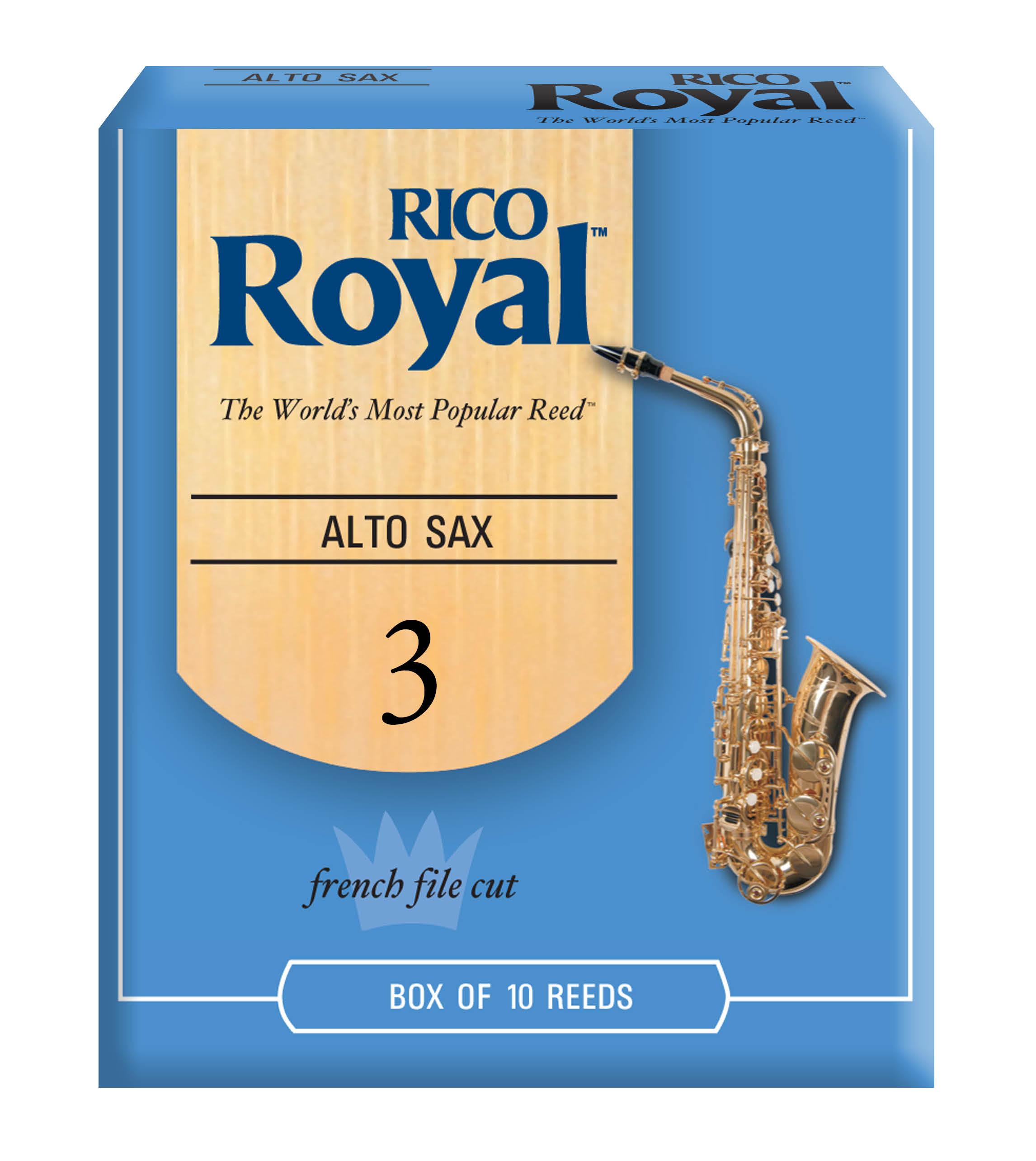 RICO ROYAL 3 ALTO SAX REED 10