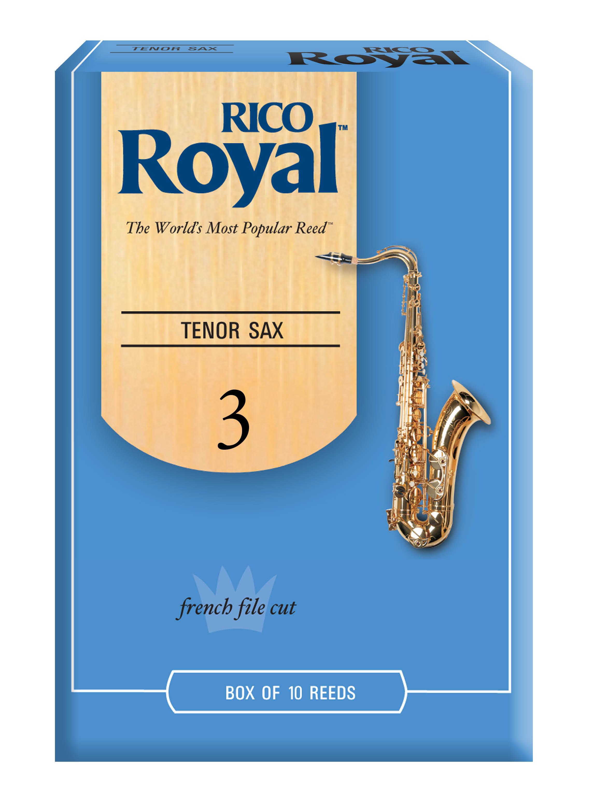 RICO ROYAL 3 TEN SAX REEDS 10