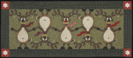 Topsy Turvy Reindeer Pattern