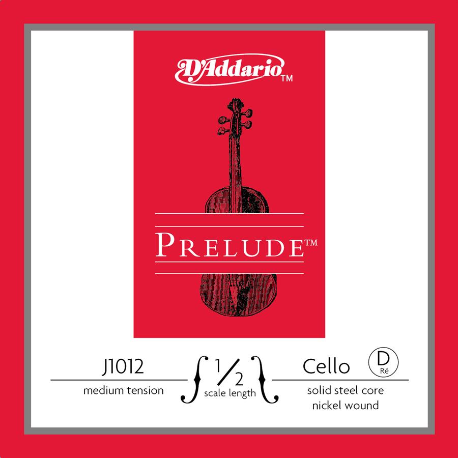 Prelude Single Cello String, D, Medium 1/2