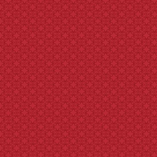 Crimson Red Filagree Geo
