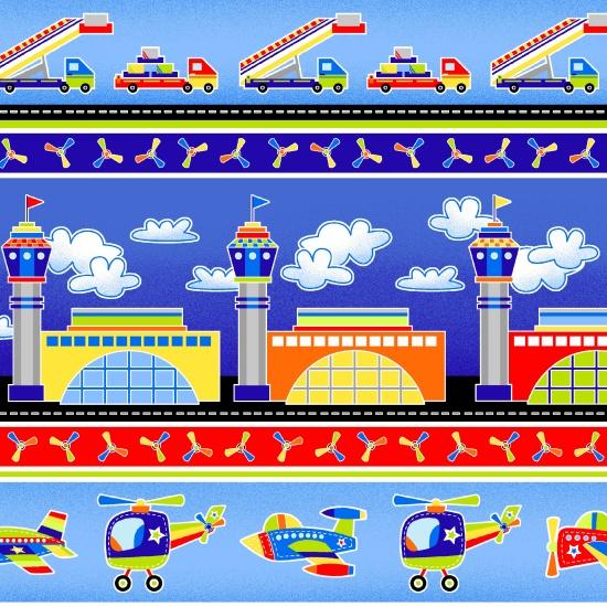 Air Show Border Print by First Blush Studio