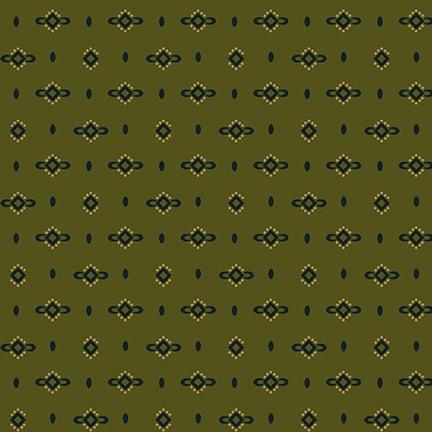 Wit & Wisdom Dotted Diamonds - Green 1426-66