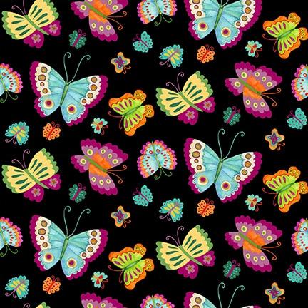 Spring Awakens - Butterflies Black