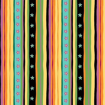 Debi Hron Spring Awakens Stripe Multi