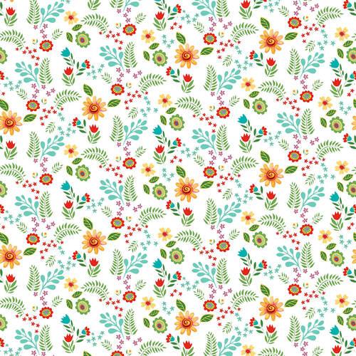 Spring Awakens - Small Floral White